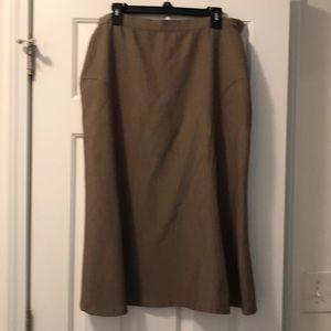 Dark khaki professional skirt